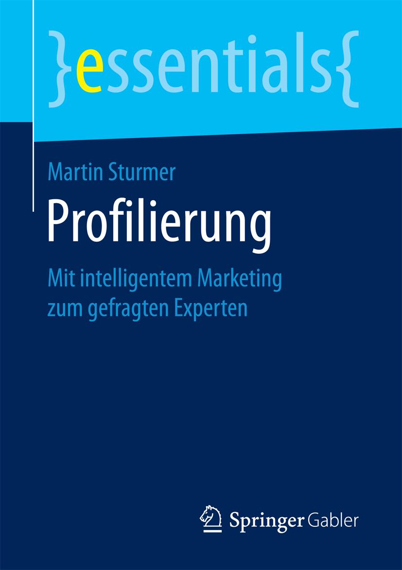 Buchcover Profilierung von Martin Sturmer