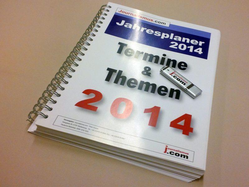 Jahresplaner 2014 von Journalismus.com