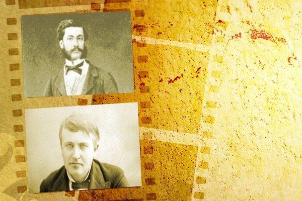 Louis Le Prince und Thomas Alva Edison