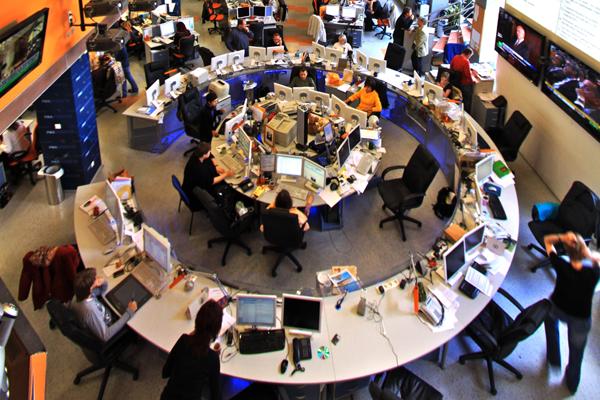 Newsroom von Ria Novosti