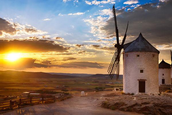 Windmühlen in Spanien