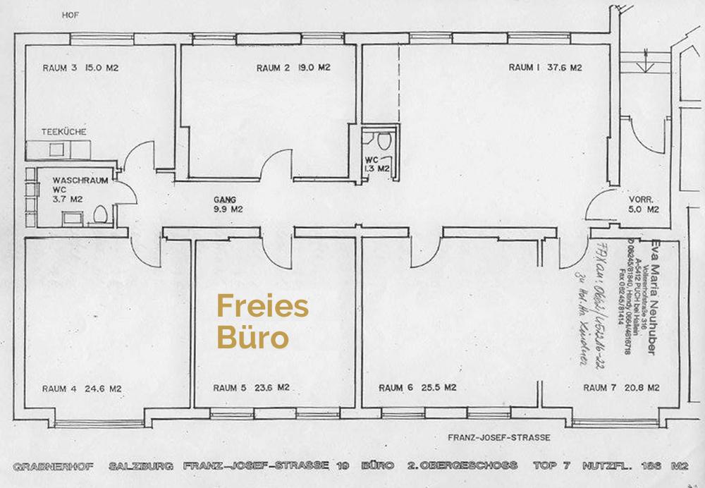 Raumplan: Freies Büro im Andräviertel, Salzburg