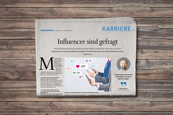 Corporate Influencer Salzburger Nachrichten